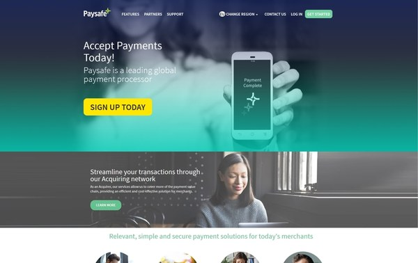 Paysafe Payment Processing - Responsive Webdesign, TYPO3 Backend Development, Frontend Development